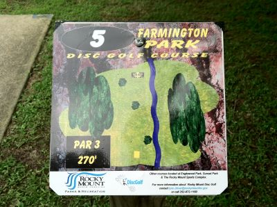 Farmington Park, Main course, Hole 5 Hole sign