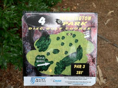 Farmington Park, Main course, Hole 4 Hole sign