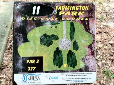 Farmington Park, Main course, Hole 11 Hole sign