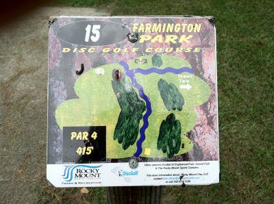 Farmington Park, Main course, Hole 15 Hole sign