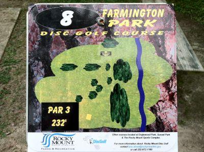 Farmington Park, Main course, Hole 8 Hole sign