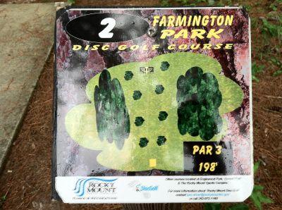Farmington Park, Main course, Hole 2 Hole sign