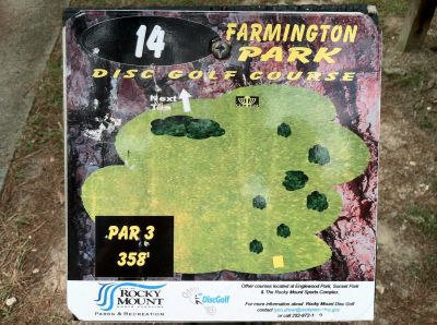 Farmington Park, Main course, Hole 14 Hole sign