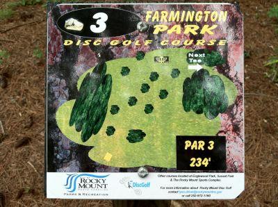 Farmington Park, Main course, Hole 3 Hole sign