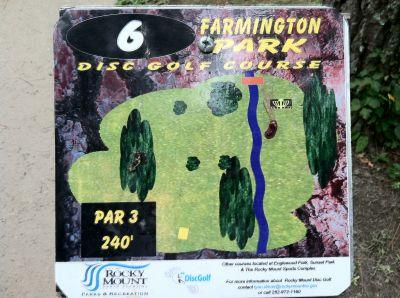 Farmington Park, Main course, Hole 6 Hole sign