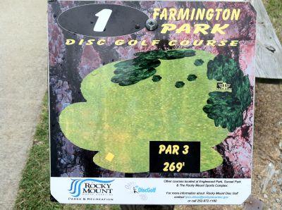 Farmington Park, Main course, Hole 1 Hole sign