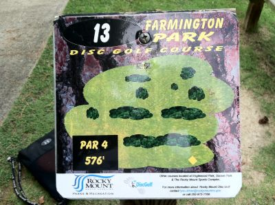 Farmington Park, Main course, Hole 13 Hole sign
