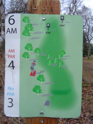 Kincaid Park, Main course, Hole 6 Hole sign