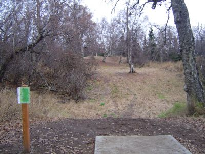 Kincaid Park, Main course, Hole 9 Tee pad