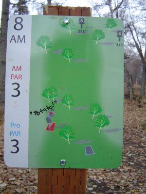 Kincaid Park, Main course, Hole 8 Hole sign