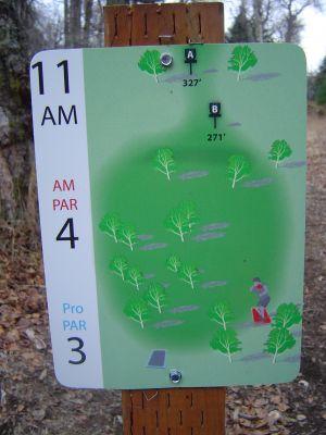 Kincaid Park, Main course, Hole 11 Hole sign