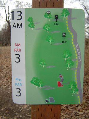 Kincaid Park, Main course, Hole 13 Hole sign
