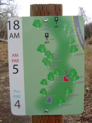 Kincaid Park, Main course, Hole 18 Hole sign