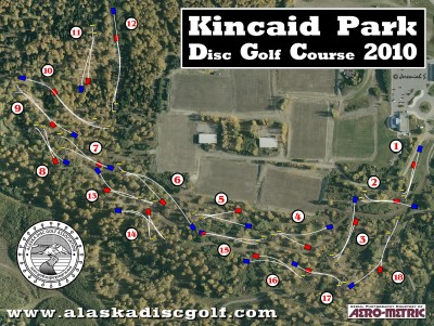 Kincaid Park, Main course, Hole 1 Hole sign
