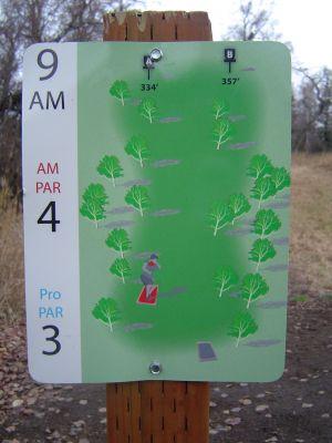 Kincaid Park, Main course, Hole 9 Hole sign
