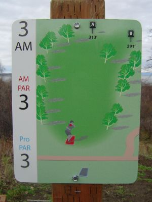 Kincaid Park, Main course, Hole 3 Hole sign