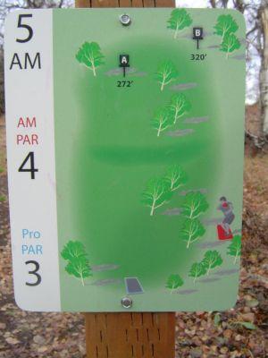 Kincaid Park, Main course, Hole 5 Hole sign
