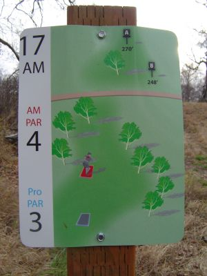 Kincaid Park, Main course, Hole 17 Hole sign