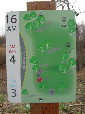 Kincaid Park, Main course, Hole 16 Hole sign