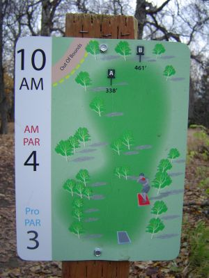 Kincaid Park, Main course, Hole 10 Hole sign