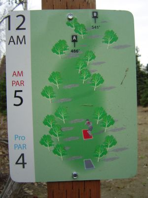 Kincaid Park, Main course, Hole 12 Hole sign