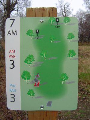 Kincaid Park, Main course, Hole 7 Hole sign