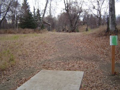 Kincaid Park, Main course, Hole 13 Tee pad