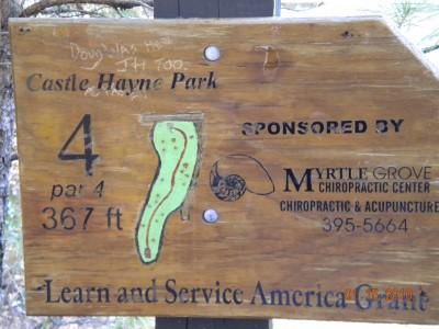 Castle Hayne Park, Main course, Hole 4 Hole sign
