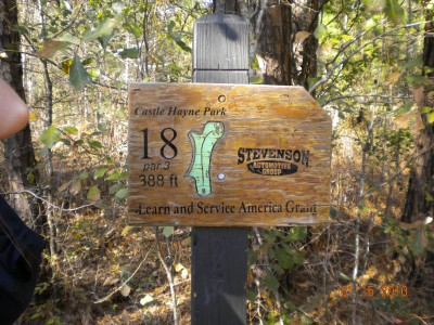 Castle Hayne Park, Main course, Hole 18 Hole sign