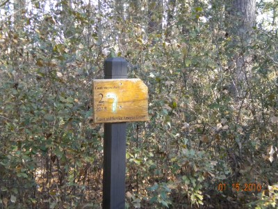 Castle Hayne Park, Main course, Hole 2 Hole sign