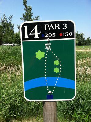 Adrian DGC, Main course, Hole 14 Hole sign