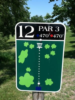 Adrian DGC, Main course, Hole 12 Hole sign