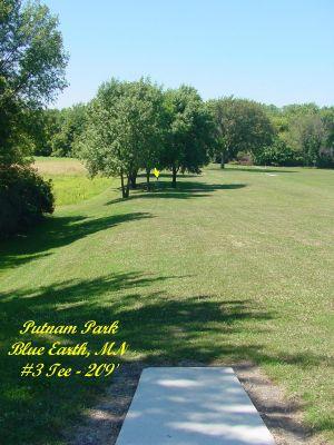 Putnam Park, Main course, Hole 3 Tee pad