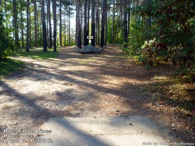 Blue Ribbon Pines, Main course, Hole 3 Tee pad