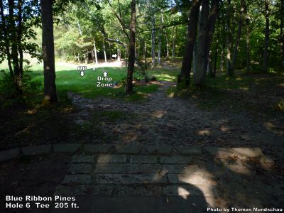 Blue Ribbon Pines, Main course, Hole 6 Tee pad