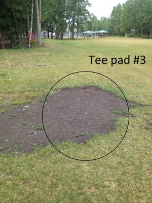 Schroeder Park, Main course, Hole 3 Tee pad