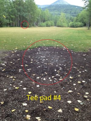 Schroeder Park, Main course, Hole 4 Tee pad