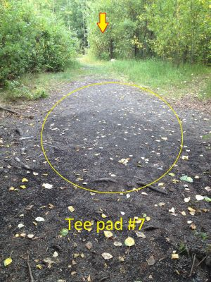 Schroeder Park, Main course, Hole 7 Tee pad