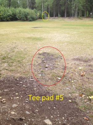 Schroeder Park, Main course, Hole 5 Tee pad