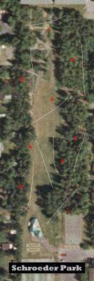 Schroeder Park, Main course, Hole 1 Hole sign