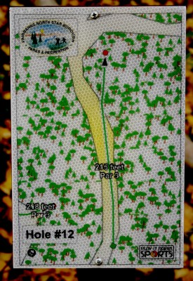 Birch Hill, Main course, Hole 12 Hole sign