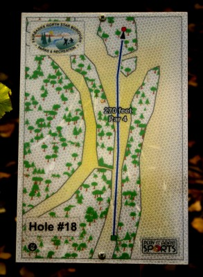 Birch Hill, Main course, Hole 18 Hole sign