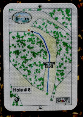 Birch Hill, Main course, Hole 8 Hole sign