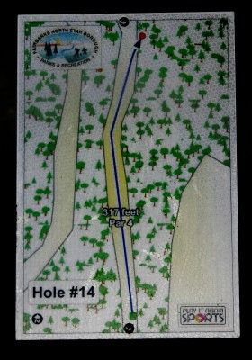 Birch Hill, Main course, Hole 14 Hole sign