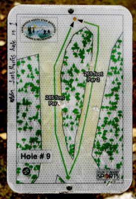 Birch Hill, Main course, Hole 9 Hole sign