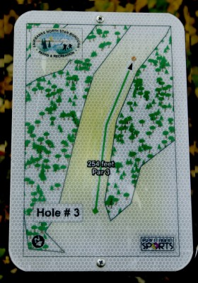 Birch Hill, Main course, Hole 3 Hole sign