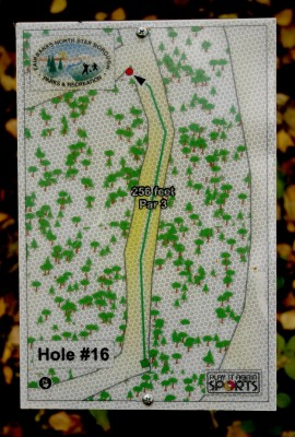 Birch Hill, Main course, Hole 16 Hole sign