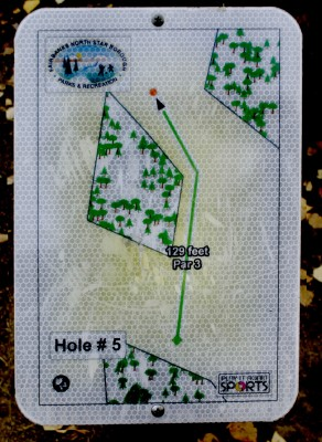 Birch Hill, Main course, Hole 5 Hole sign