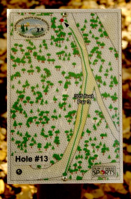 Birch Hill, Main course, Hole 13 Hole sign