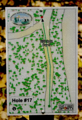 Birch Hill, Main course, Hole 17 Hole sign